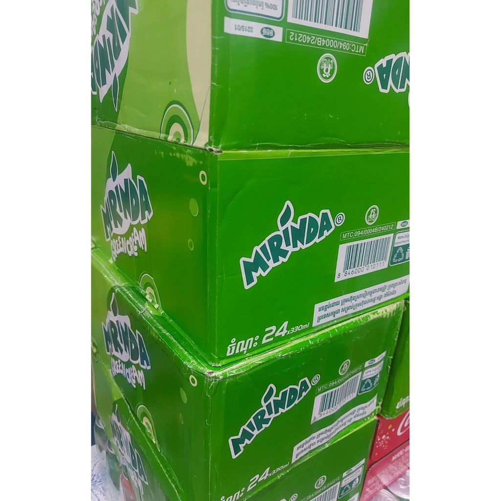 Nước ngọt Mirinda vị soda kem Thái 1 thùng 24lon