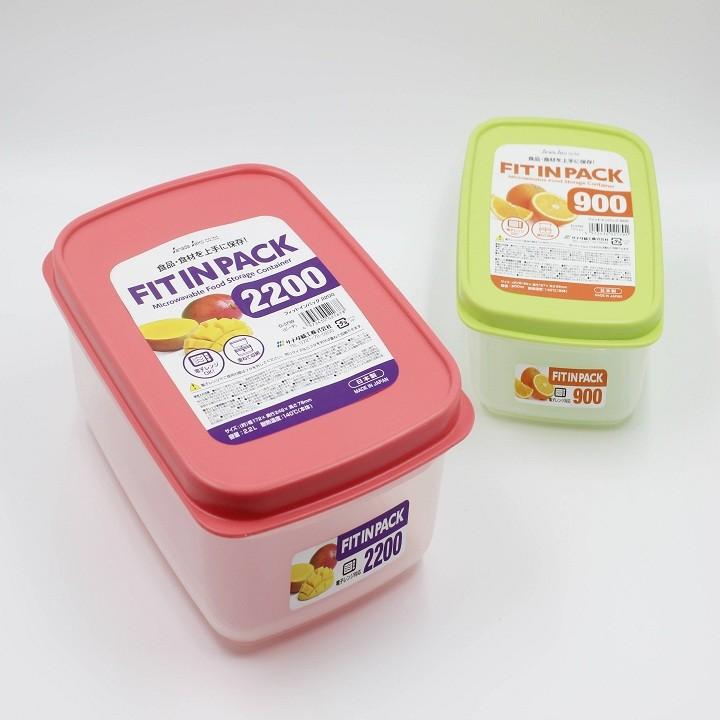 Hộp nhựa, hũ nhựa đựng thực phẩm, đựng cơm, đồ ăn cất tủ lạnh Fitin Pack nắp dẻo, chịu nhiệt Nhật Bản(nhiều kích thước)