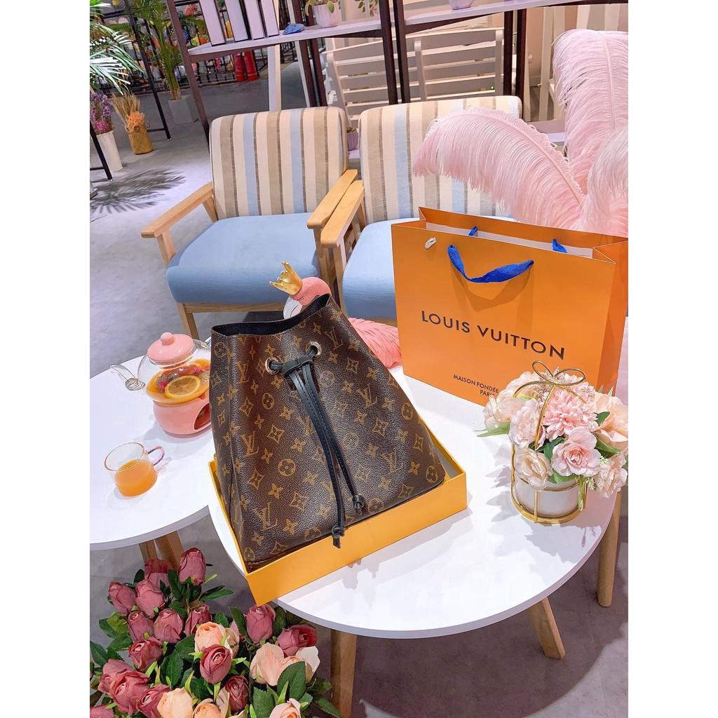 READY STOCK LV louis vuitton new women's fashion bucket bag champagne bag handbag shoulder bag shopping bag sling bag