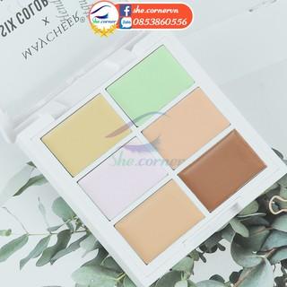 Bảng che khuyết điểm 6 màu MAYCHEER Six Colors Concealer Professional Makeup 1077 kem che quầng thâm, vết mụn lâu 12g thumbnail