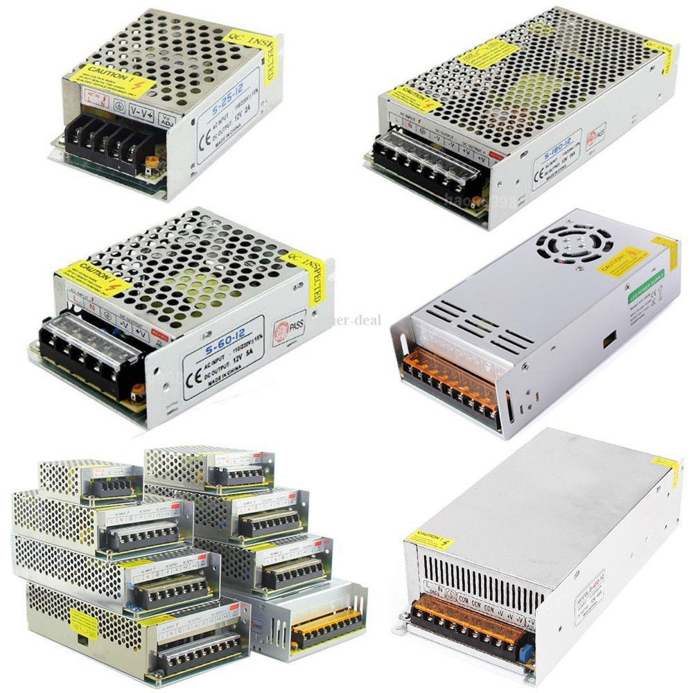 12V 5A  Power Supply AC to DC Adapter Switching for LED Strip Light
