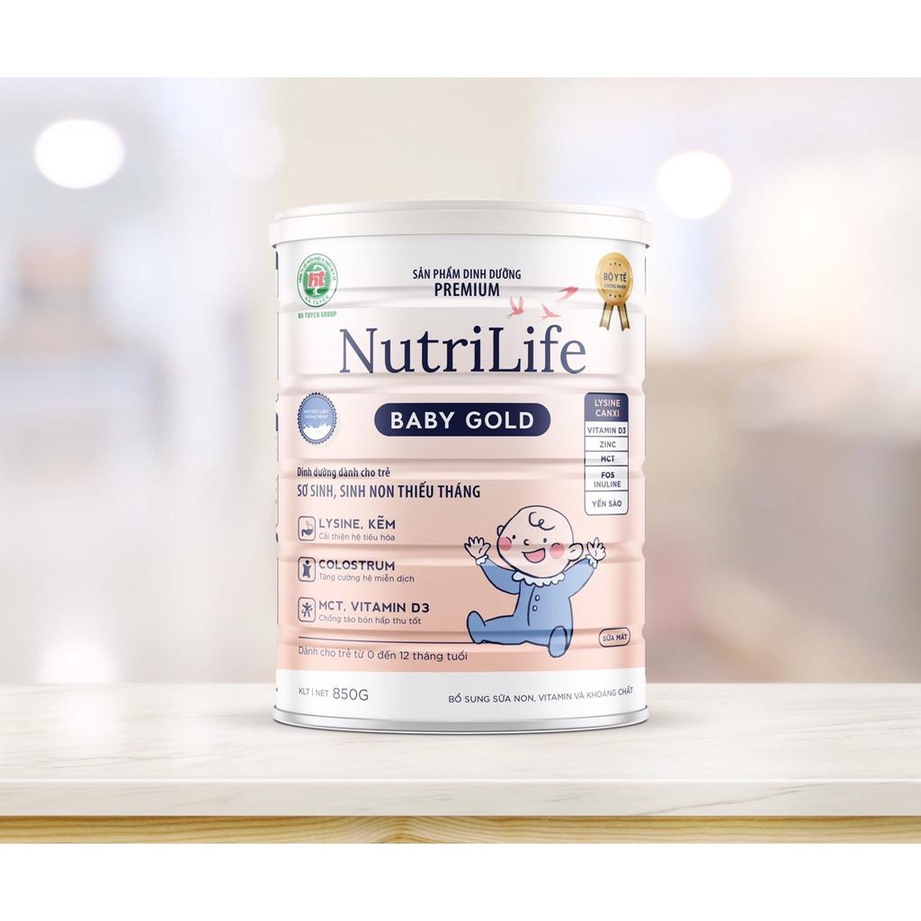 Sữa bột NutriLife BABY GOLD dinh dưỡng cho trẻ sơ sinh từ 0-12 tháng