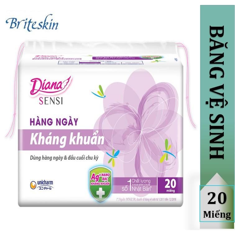 Băng Vệ Sinh Hằng Ngay Khang Khuẩn Diana Daily Sensi Mặt Bong Mặt Lưới Shopee Việt Nam