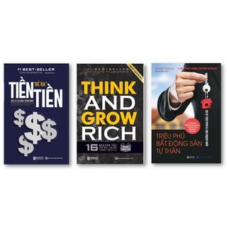 Sách - Combo Tiền Đẻ Ra Tiền + 16 Nguyên Tắc Nghĩ Giàu, Làm Giàu Trong Thế Kỉ 21 + Triệu Phú Bất Động Sản Tự Thân