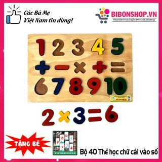 Giáo Cụ Montessori Bảng Ghép 10 Số Nổi Và Phép Tính Bằng Gỗ Tự Nhiên Giúp Bé Phát Triển Tư Duy – Hàng Việt Nam