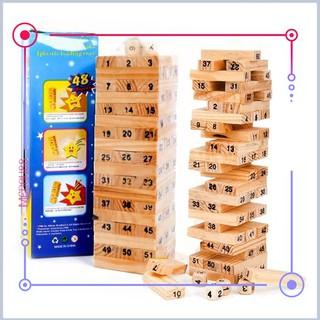 [Mã TOYDEC giảm 10% tối đa 15K đơn từ 50K] Đồ Chơi Rút Gỗ Wish Toy Cho Bé (54 thanh)