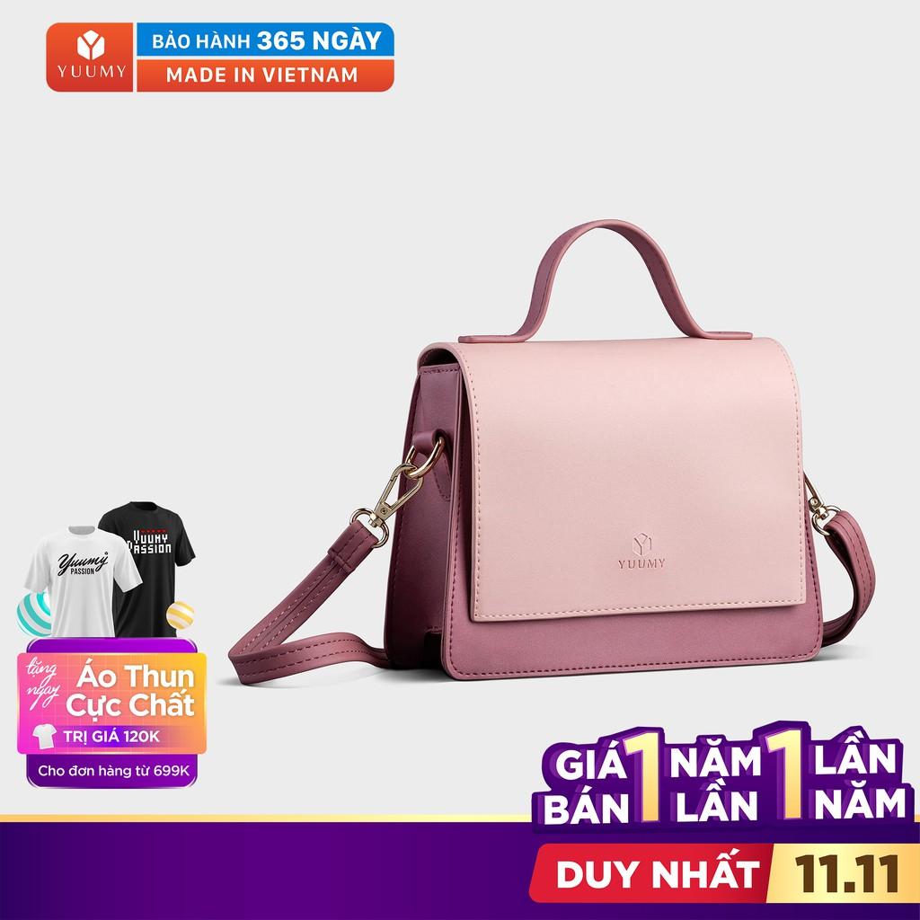 Túi đeo chéo nữ YUUMY YN84 vừa điện thoại IPHONE 11, có quai xách, da tổng hợp cao cấp, không bong tróc, bảo hành 1 năm.
