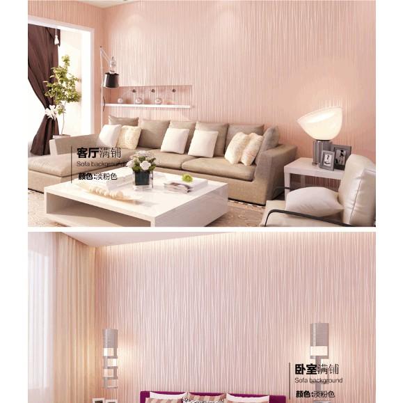 Giấy dán tường vân nổi hồng (hot)- khổ rộng 0.53- 26k/m