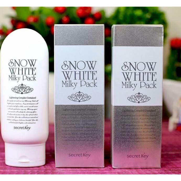 (AUTH)Kem tắm trắng Snow White Milky Pack