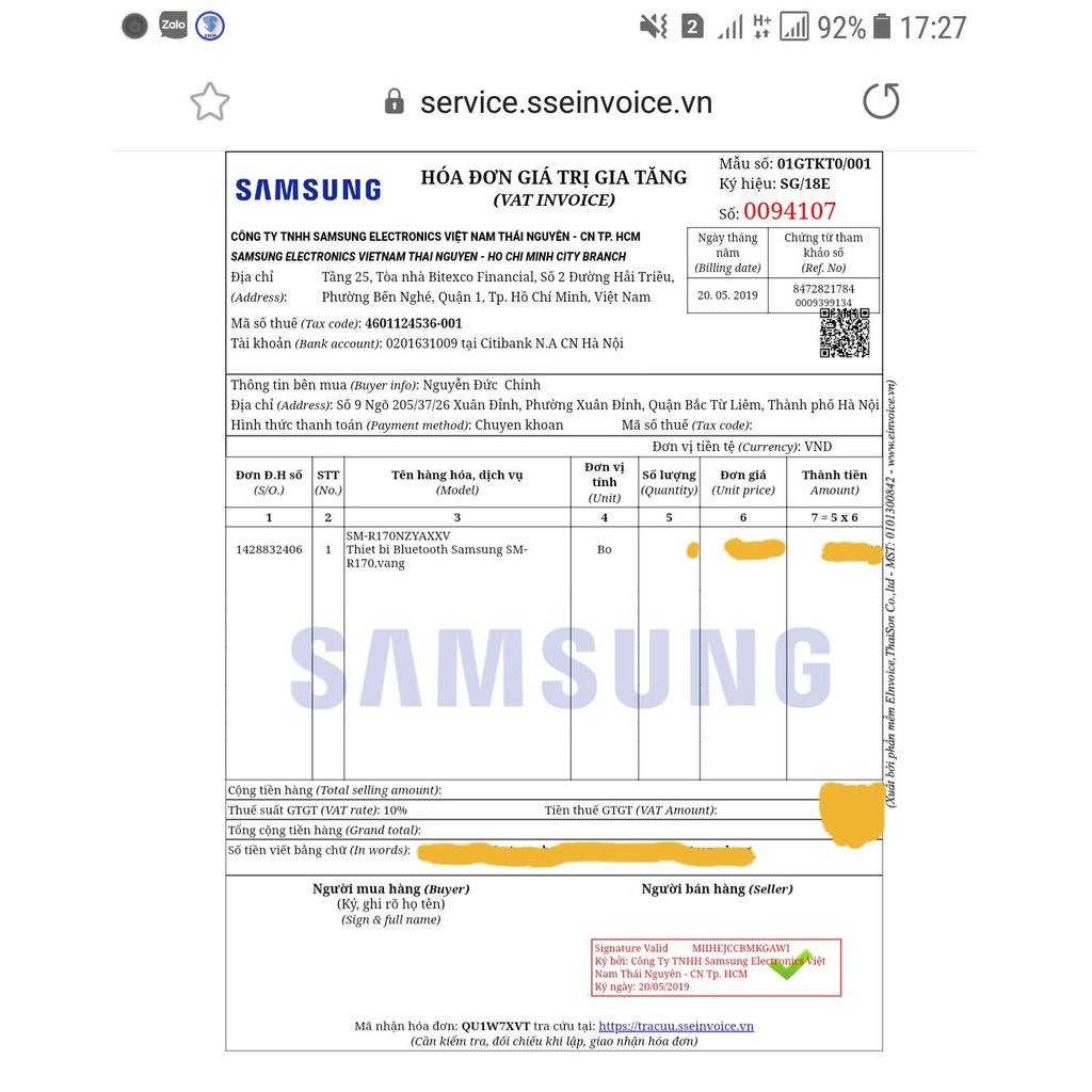 TAI NGHE TRUE WIRELESS SAMSUNG GALAXY BUDS mới 100% Chính hãng FULLBOX hoặc NOBOX