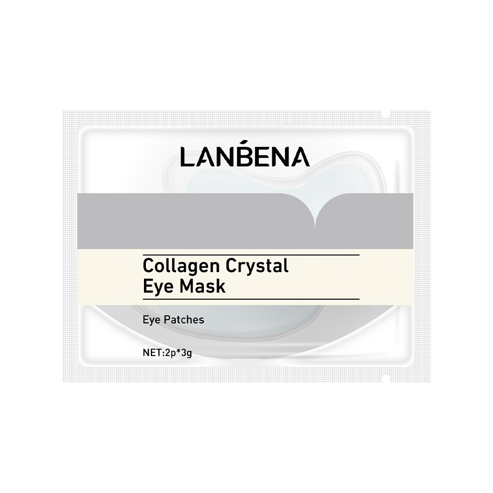 Set 10 mặt nạ mắt LANBENA tinh chất vàng 24K collagen chống nếp nhăn chống lão hóa dưỡng ẩm loại bỏ quầng thâm mắt