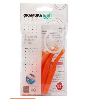 Okamura - Bàn Chải kẽ răng Asahi dang L (bịch 6 cây)