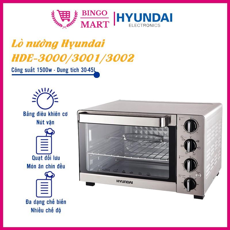 Lò nướng Huyndai HDE 3000/3001/3002 dung tích 30/35/45L