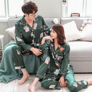 Bộ đồ ngủ lụa dễ thương cho cặp đôi