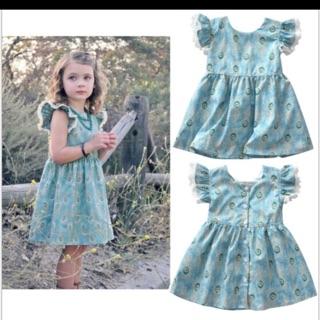 váy xanh cánh tiên bé gái 500