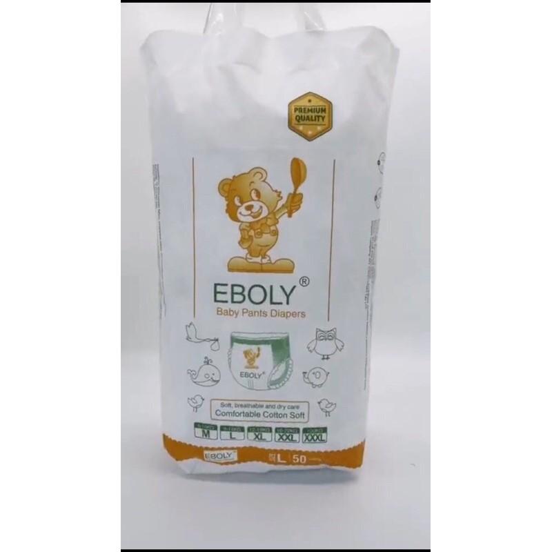 Bỉm tã quần/Dán EBOLY 100c size M, L, XL
