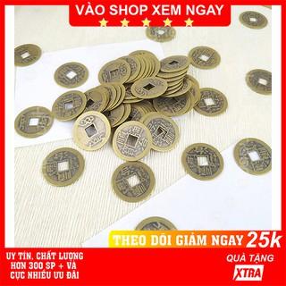 Combo 5 - 10 - 20 đồng xu cổ FREESHIP Combo 5 - 10 - 20 đồng xu cổ phong thủy may mắn size nhỏ - Phát Huy Hoàng thumbnail