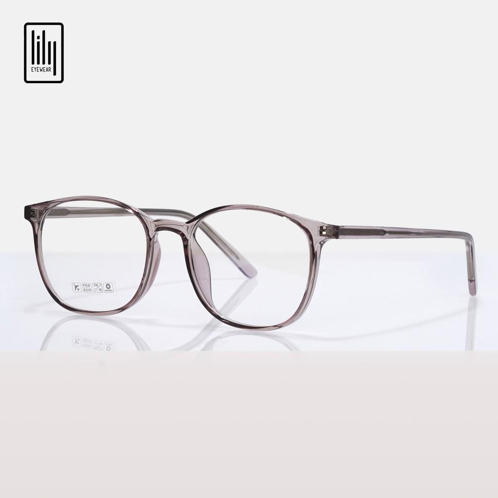 Gọng kính cận nam nữ nhựa dẻo Lilyeyewear, kiểu dáng mắt vuông phù hợp với nhiều khuôn mặt, màu sắc phong phú - 8244