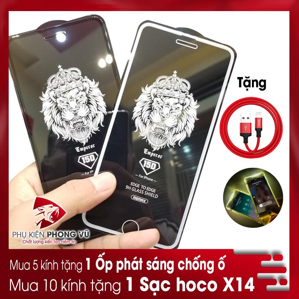Kính cường lực iphone 6 Plus 7 Plus 8 Plus X Xr Xs Max 11 pro max Full màn Chống vân 15D