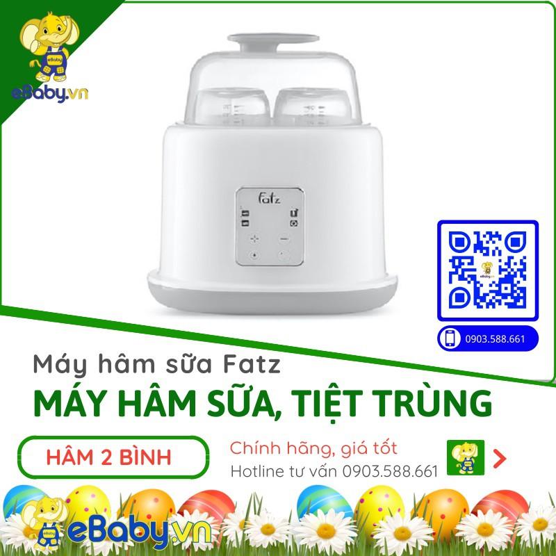 Máy hâm sữa tiệt trùng 2 bình điện tử Duo 2 – FatzBaby FB3223SL 4 chức năng mới - chính hãng Fatz