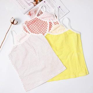 Áo cotton sát nách họa tiết sọc xinh xắn cho bé gái