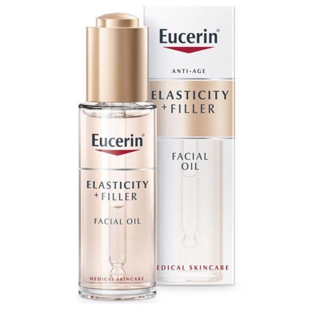 Tinh dầu dưỡng da Eucerin Hyaluron Filler Elasticity Facial OIl – 30ml,  giúp da săn chắc chống lão hóa da | Shopee Việt Nam