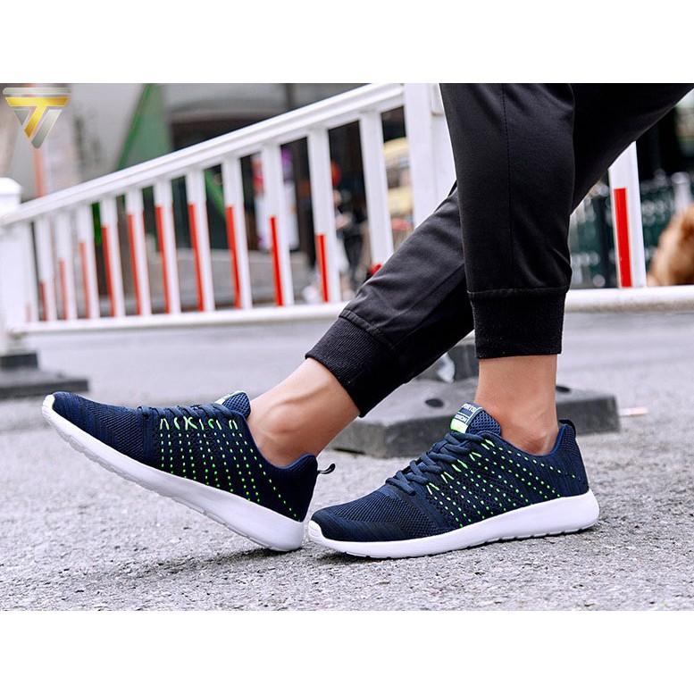 Giày sneaker nam thời trang siêu HOT TRT-GTTN-45 (Xanh+Xám+Đen)