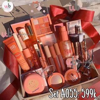 [Wowshop93} Bộ Trang Điểm A055 KissBeauy [Chính Hãng] gồm 17 món Makeup đầy đủ chất phấn mịn,son kem lì.Tặng kèm 1 Túi
