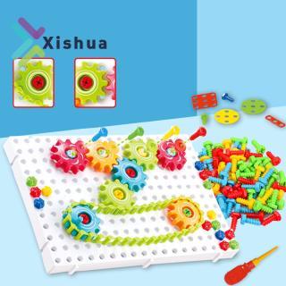 DIY Gears Model Building Blocks Educational Puzzle Toys for Kids Children