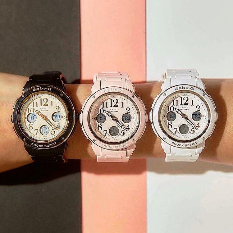Đồng hồ dây nhựa Casio Baby-G Nữ BGA-150EF-7B chính hãng bảo hành 5 năm Pin trọn đời