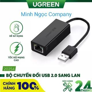 Cáp chuyển USB sang Lan 2.0 Ugreen 20254 tốc độ 10 100Mbps - Hàng chính hãng bảo hành 18 tháng thumbnail