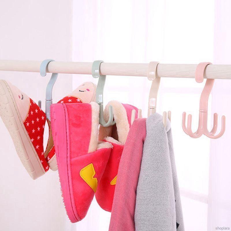 Móc treo đồ FREESHIP Móc nhựa 4 chấu đa năng - Móc phơi giày dép, quần áo
