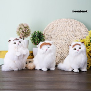 Mback_Simulated Fat Cat Stuff Toy Handicraft Photography Props Home Car Decor Gift