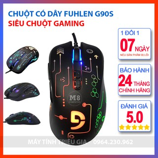 Chuột Có Dây Fuhlen G90s Full Led – Siêu Chuột Gaming Huyền Thoại, 1 Đổi 1 Trong 7 Ngày, Bảo Hành 24 Tháng