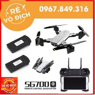 [GIÁ HỦY DIỆT] [Combo 2 Pin] Máy bay Flycam SG700 chụp ảnh bằng cử chỉ, 2 camera, cảm biến di chuyển theo bàn tay
