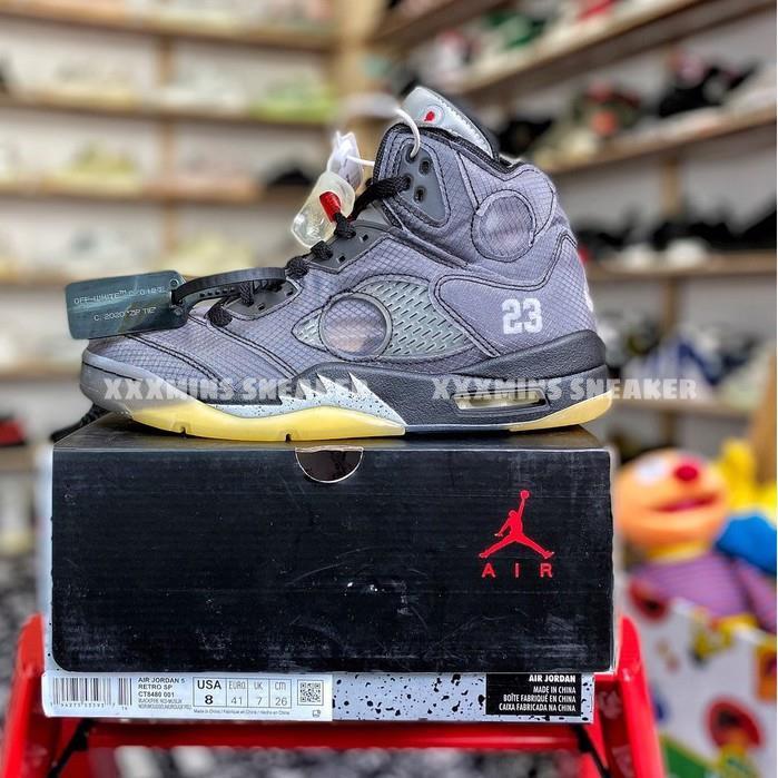 Giày Air Jordan 5 x Off-White (Best Quality)