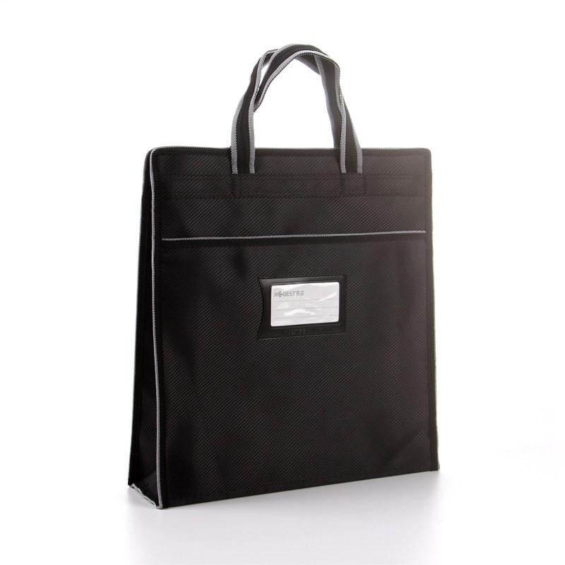 แนวตั้งความจุขนาดใหญ่กระเป๋าเอกสารแบบพกพาถุงไฟล์ข้อมูลกระเป๋านักเรียนถุงเก็บซิปก