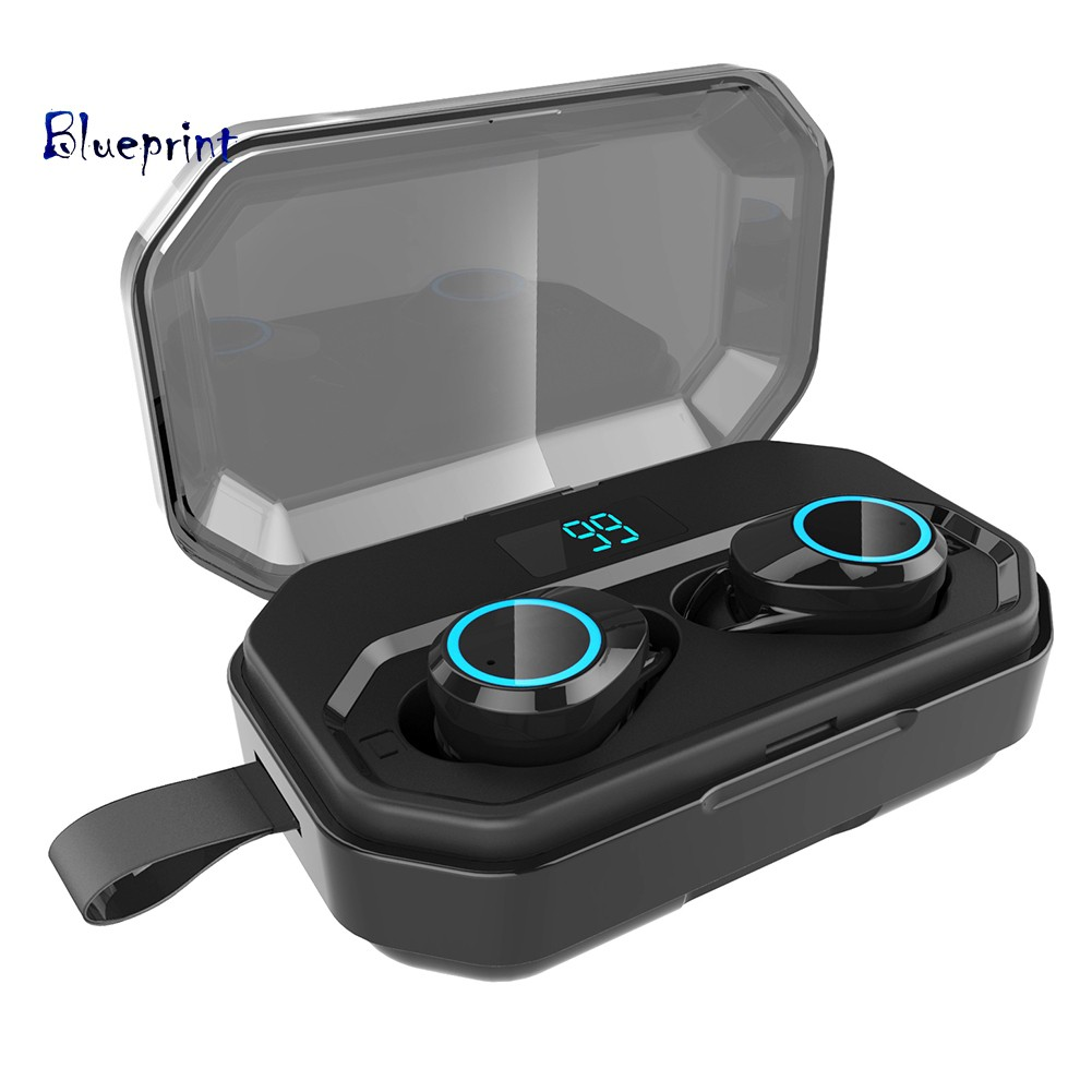 ☞BPMini Ear Buds In-ear Stereo Bluetooth 5.0 Wireless Earphones with Charge Case