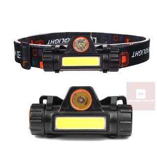 Đèn pin đội đầu siêu sáng 101 pha xa và gần (kèm pin và dây sạc USB)
