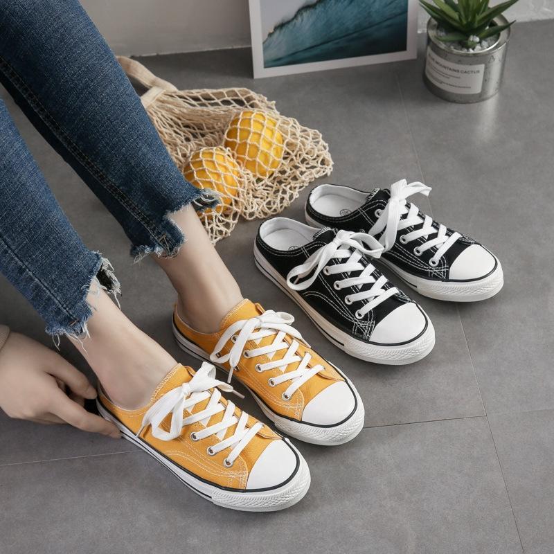 Giày canvas nữ mùa hè phong cách Hàn Quốc