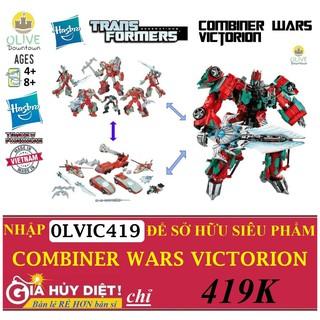 [VICTORION 6in1] Bộ Robot Transformers 6 robot nhỏ ráp thành 1 robot 30cm