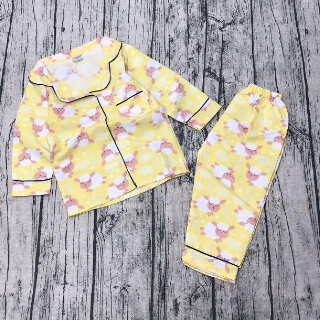 Bộ pijama dài tay cotton