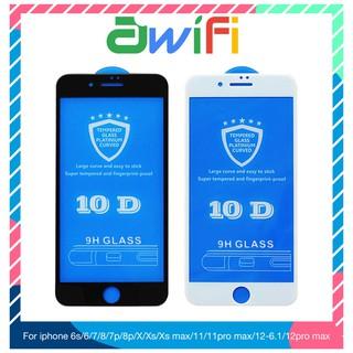 Kính cường lực iphone 10D Full màn 6/6plus/6s/6splus/7/7plus/8/8plus/x/xr/xs/11/12/pro/max/plus/promax – Awifi Case M2-4