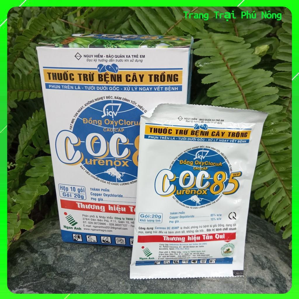 Thuốc Trừ Bệnh Gốc Đồng Coc85 WP - Gói 20g - Trừ Thán Thư, Cháy Lá, Vàng Lá, Đốm Nâu