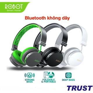 Tai nghe chụp tai bluetooth chụp tai ROBOT H10 Chất âm DSP độc lâp âm bass mạnh mẽ 15 giờ sử dụng cổng kết nối AUX