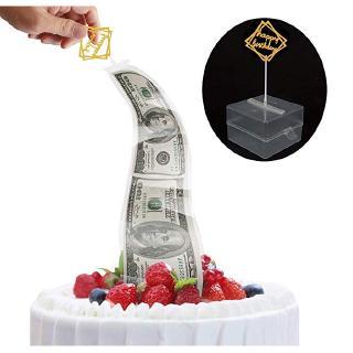 Novelty funny birthday cake mold surprise gift box, pull money decoration box