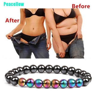 Peacellow Magnetic Therapy Hematite Stone Beads Health Care Bracelet Weight Loss Jewelry