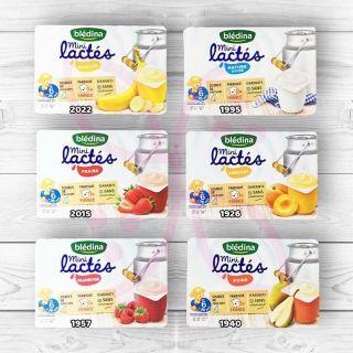 Sữa chua nguội Bledina của Pháp nhiều vị lốc 6 hộp Date T12 2020 thumbnail