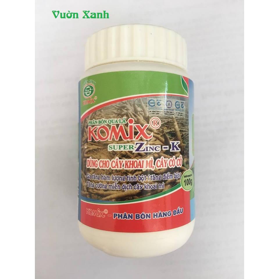 Phân bón chuyên dùng cho cây có củ Komix Super ZinC-K