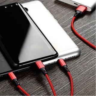 Cáp Sạc 3 Đầu Đa Năng 3 in 1 Dùng Cho Samsung Oppo Xiaomi Apple memory01.shop thumbnail